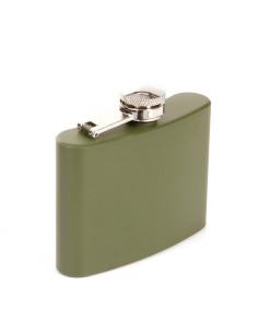 Fiaschetta militare tascabile Verde Oliva da 4 OZ 118 ml Acciao Inox
