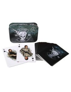 Carte da gioco militari 101 Inc con scatola in metallo per poker