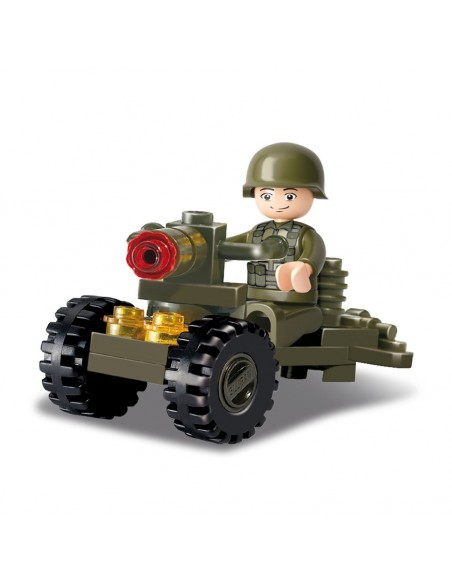 Soldato con cannone - Costruzioni Militari Sluban M38-B0118 - 413101 - Sluban