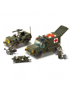 Ambulanza + Jeep - Costruzioni Militari Sluban M38-B6000 comp. Lego