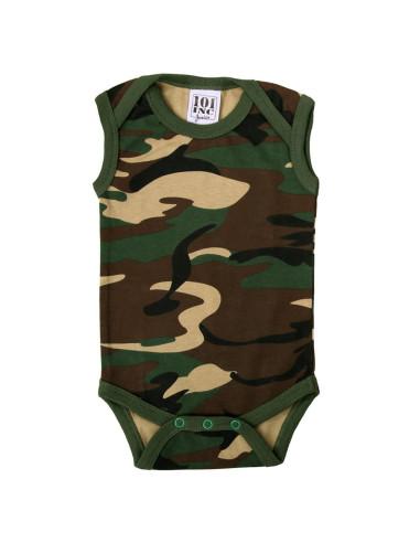 Body bambino neonato mimetico camo senza maniche - 114300 - 101 INC
