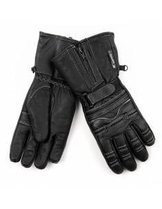 Guanti da biker motociclista in vera pelle imbottiti e impermeabili