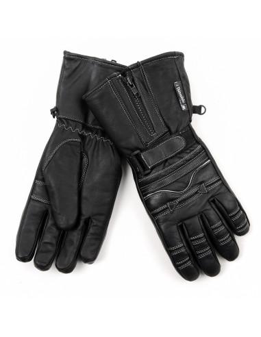 Guanti da biker motociclista in vera pelle imbottiti e impermeabili - 228226 - Fostex Garments