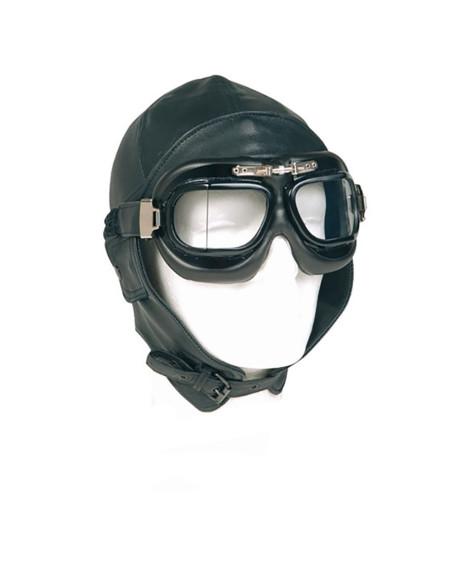 Cappello militare in vera pelle da Aviatore Pilota replica WWII 1943 - 219261 - Fostex Garments