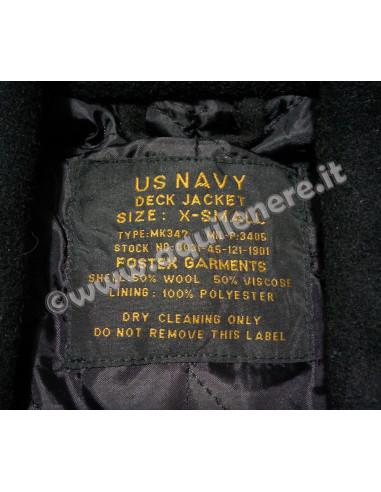 Cappotto Cappottina in Lana Doppio Petto Marina Militare