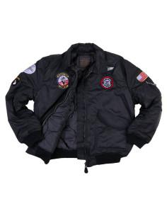 Giacca Bomber Militare B-52 imbottito da bambino con toppe da 2 a 14 anni - 122421 - Fostex Garments