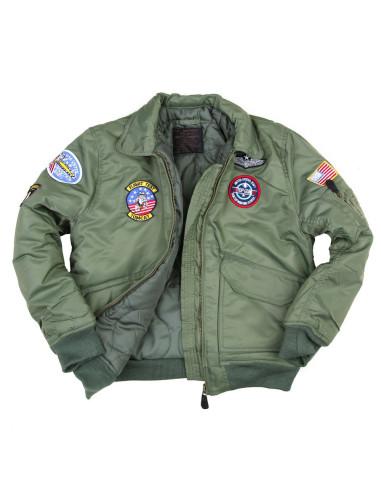 best sneakers 7f1d4 0410b Giacca Bomber Militare B-52 imbottito da bambino con toppe da 2 a 14 anni