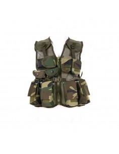 Gilet tattico militare mimetico da bambino 101 INC Woodland o ACU