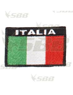 Toppa patch bandiera Italia stoffa con retro in velcro cucito