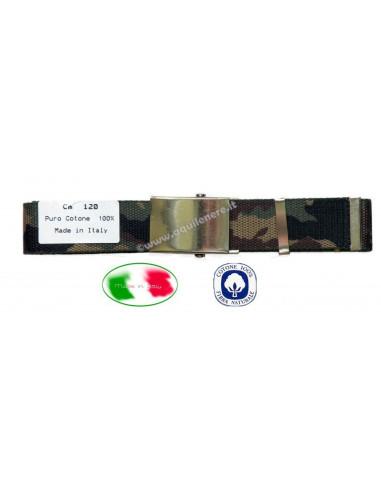 Cintura militare mimetica fibbia alta SBB - 1117-mimet - SBB Brancaleoni