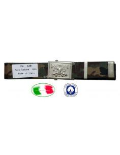 Cintura militare Esercito Italiano mimetica Woodland fibbia decorata SBB - 1117-multi - SBB Brancaleoni