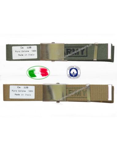 Cintura militare Army Esercito USA fibbia alta SBB made in Italy 100% cotone