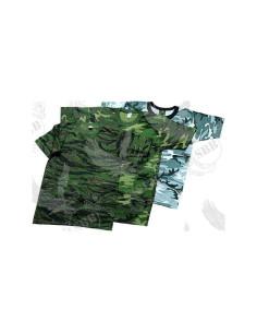Maglietta T-Shirt cotone US Woodland - 3903 - Stripes USA