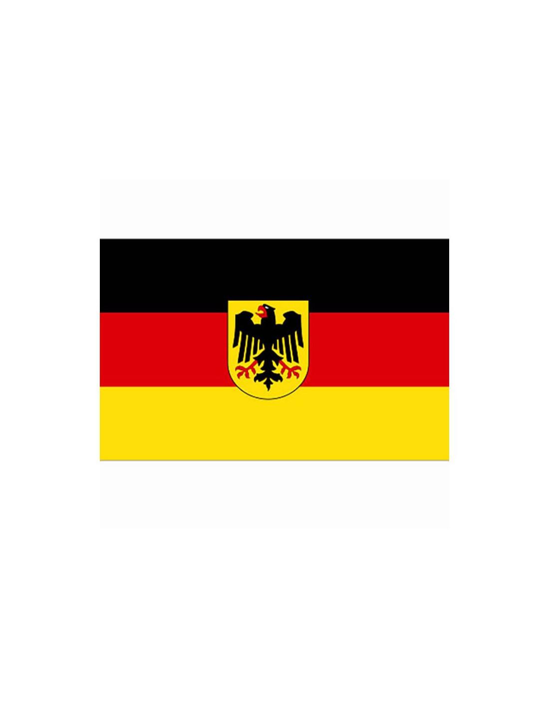 Bandiera germania con aquila tedesca bundeswappen - Bandiera della pagina di colorazione della germania ...