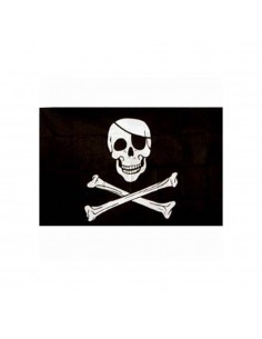 Bandiera Pirata Jolly Rogers Teschio con Benda