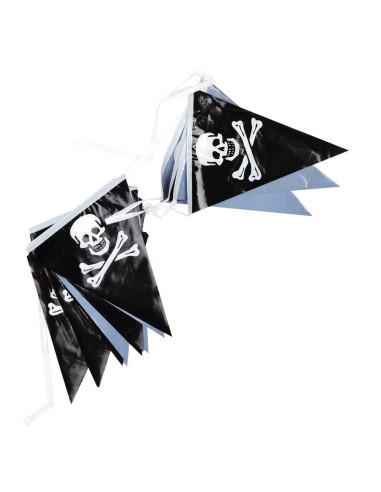 Nastro festone bandierine pirata - 447225-166 -