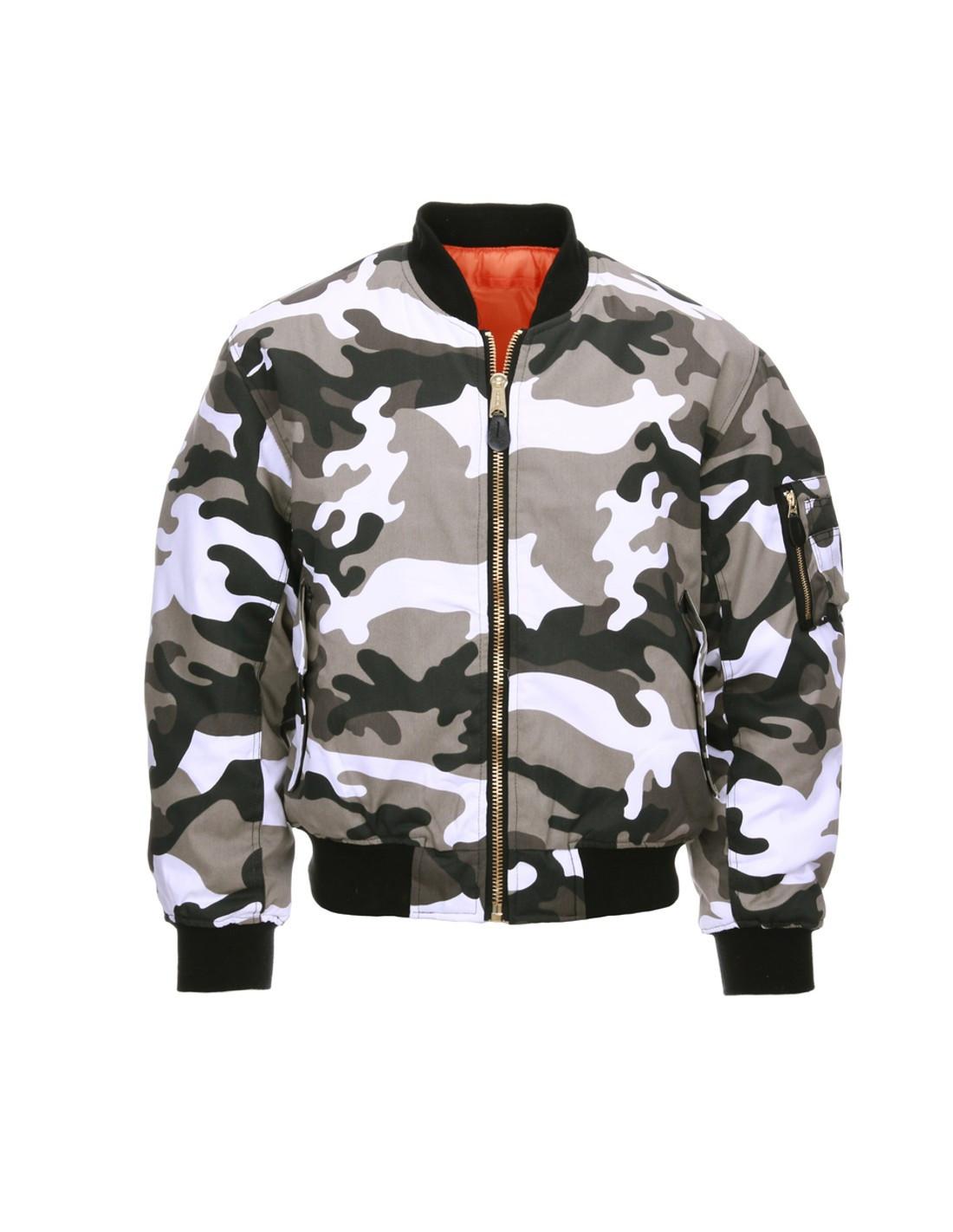 miglior servizio 1f260 87653 Bomber Militare MA-1 Flight Jacket USA Camouflage - Fostex Garments...