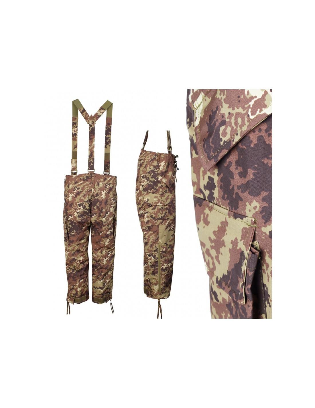 prezzo ridotto abile design ultima selezione Pantaloni militari impermeabili traspiranti con bretelle - SBB Bran...