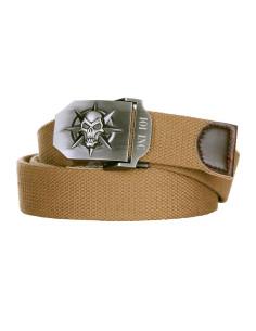 Cintura con fibbia in metallo con Teschio e Stella - 241334 - 101 INC