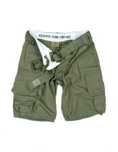 Pantaloncini cargo stone washed Kosumo con cintura colori vari - 30154 - Kosumo
