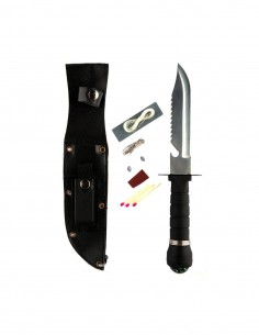 Coltello Survival Rambo con fodero e kit sopravvivenza - 455415 - Fosco Industries