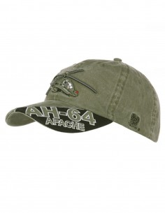 Cappello da Baseball AH-64 Apache stone washed - 215121 - Fostex Garments