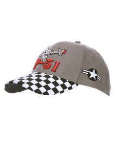 Cappello da Baseball militare P-51 Mustang Caccia USA WWII - 215122 - Fostex Garments