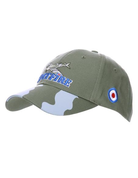 Cappello da Baseball militare Spitfire Caccia RAF WWII Aviazione - 215123 - Fostex Garments