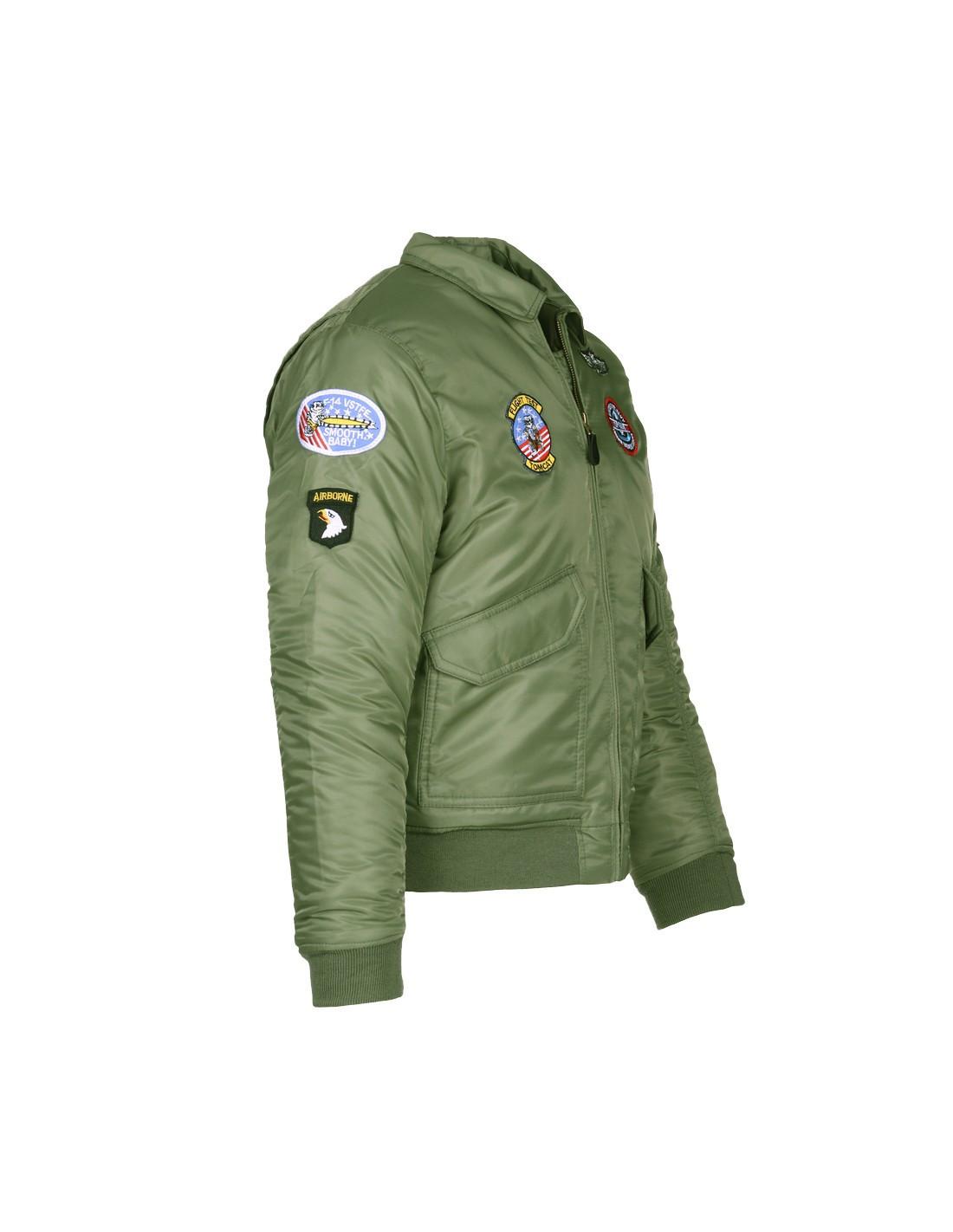 promo code 0b305 d21ef Giacca Bomber Militare B-52 imbottito da bambino con toppe ...