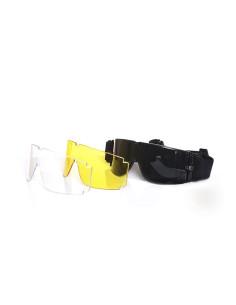 Occhiali di protezione per softair con 3 lenti intercambiabili - 255120 - Non applicabile