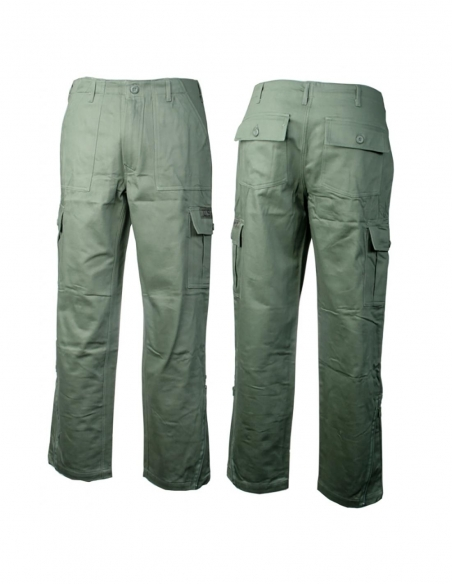 Pantalone 6T C/C felpato oliva II SBB - 30156 - SBB Brancaleoni