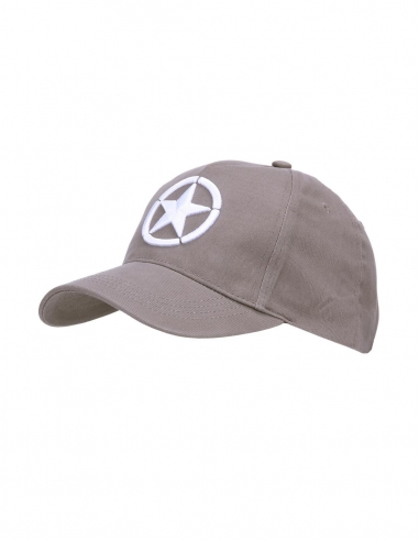 Cappello da Baseball ricamato 3D Forze Alleate Seconda Guerra Mondiale - 215120-281 - Fostex Garments