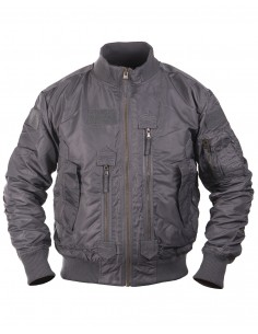 Bomber MA-1 Tattico Militare Fligh Jacket USA Grigio - 10404608 - Mil-Tec