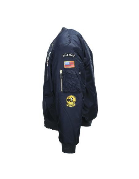 Bomber Militare MA-1 con patch Flight Jacket USAF - 121402 - Fostex Garments