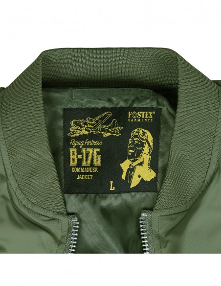 Bomber MA-1 leggero estivo B-17G commander Flying Fortress - 121420 - Fostex Garments