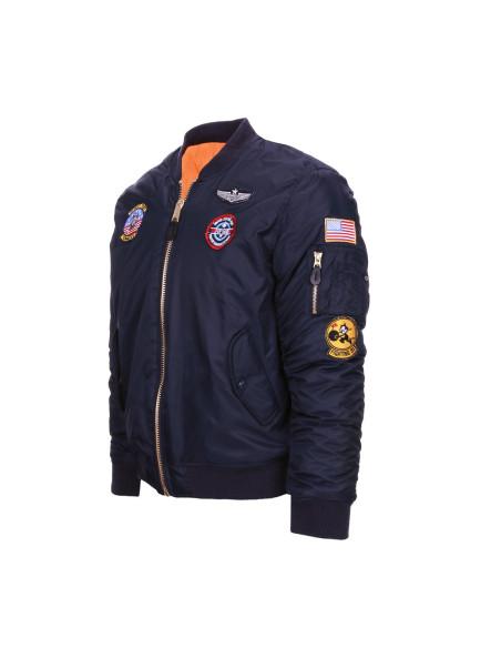 Bomber Militare da Bambino Imbottito MA-1 con Patch Flight Jacket USAF da 2-14 Anni - 121405 - Fostex Garments