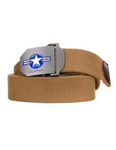 Cintura militare Esercito ricamata fibbia in metallo SBB made in Italy