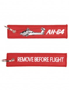 Portachiavi Remove Before Flight + AH-64 Elicottero Apache - 251305-1558 - Non applicabile