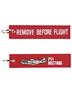 Portachiavi Remove Before Flight + P51 Mustang - 251305-1561 - Non applicabile