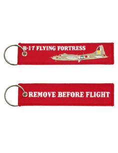 Portachiavi Remove Before Flight + B17 Flying Fortress Fortezza Volante - 251305-1583 - Non applicabile