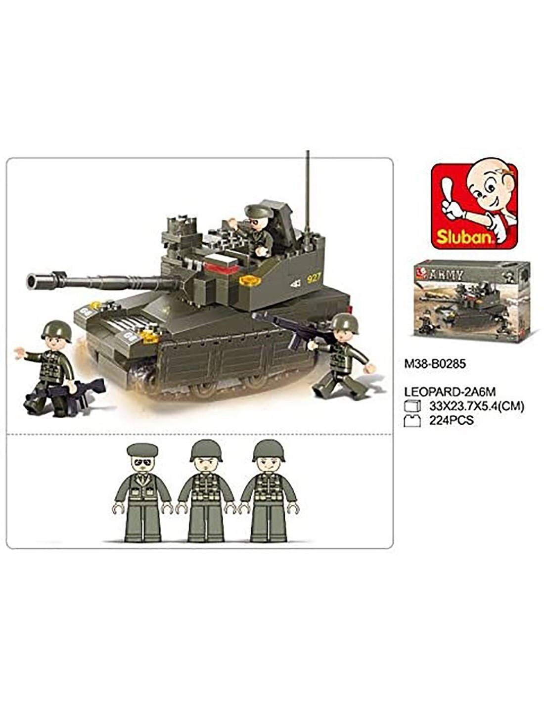 SLUBAN WWII-carro armato tedesco 2in1 con 2 istruzioni di montaggio m38-b0693