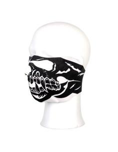 Maschera in neoprene modello teschio denti aguzzi motociclista softair