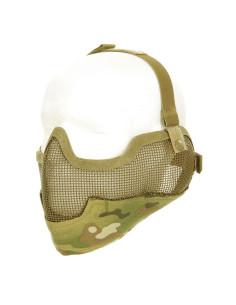 Airsoft maschera protezione mezzo viso + orecchie 101 inc. per Softair