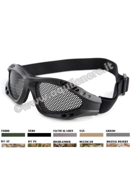 Occhiali di protezione a rete metallica per softair - 255126 - 101 INC
