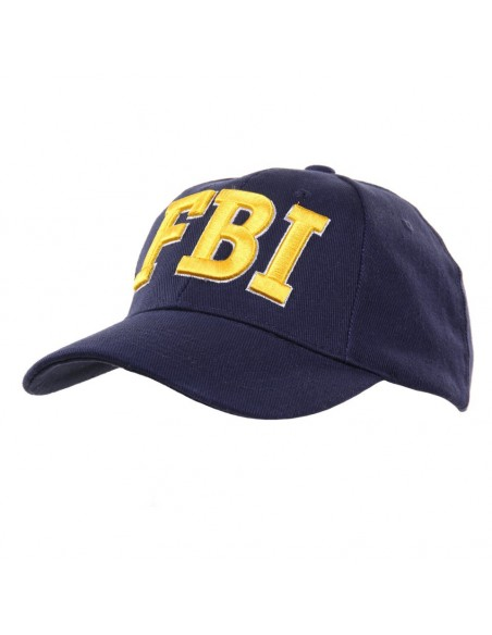 Cappello da Baseball FBI con ricamo Giallo Oro - 215151-216 - Fostex Garments