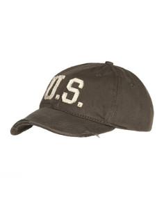 Cappello da Baseball militare stone washed US americano vintage U.S.