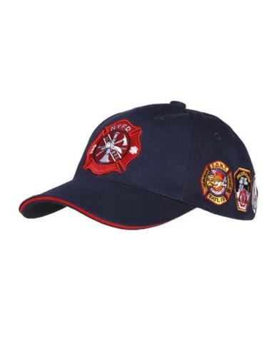 Cappello da Baseball NYFD con stemmi - 215157-246 - Fostex Garments