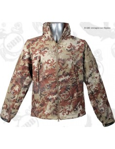 Giacca tattica militare Soft Shell Jacket Vegetata SBB termica softair