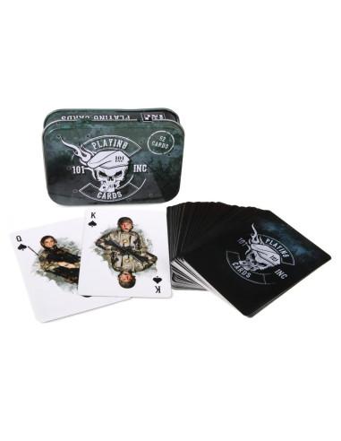 Carte da gioco militari 101 Inc con scatola in metallo - 419190 - 101 INC