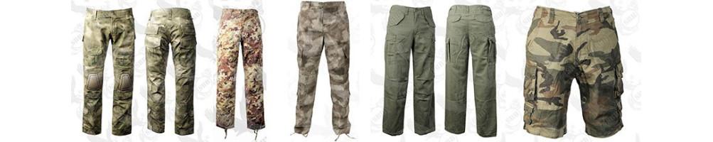 Pantaloni militari, da caccia e softair